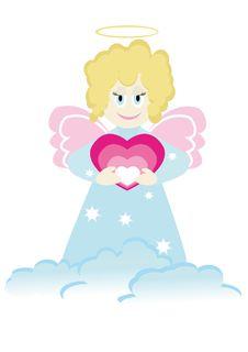 Free Cartoon Figure Of Little Angel Stock Photo - 7801020