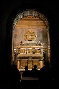 Saint John Tomb At Segovia Church Stock Photos