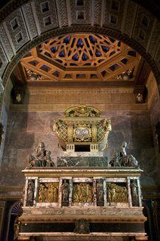 Saint John Tomb Coffin Royalty Free Stock Images