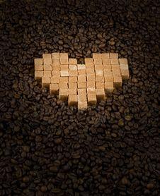 Nub Sugar Heart Royalty Free Stock Photo