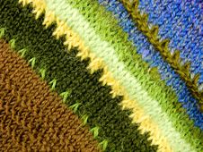 Free Woolen Texture From The Threads Of Many Colors. Royalty Free Stock Photo - 7801935