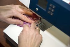 Free Wife Sewing Clothes Royalty Free Stock Photography - 7802657
