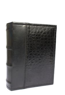 Free Black Book In A Leather Cover Royalty Free Stock Photography - 7803417