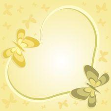 Free Beige Heart With Butterflies Stock Photos - 7803663