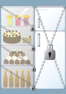 Free Fridge With Lock Stock Photos - 7803753