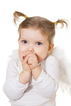 Free Baby With Wings Stock Photography - 7803882