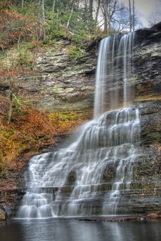 Free Autumn Waterfall Stock Image - 7805411