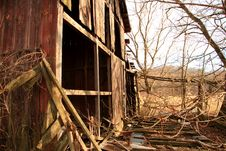 Free Old Wooden Home Abandoned In The Grasslands Stock Photo - 7805600
