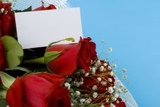 Free Roses And Note Royalty Free Stock Image - 7805706