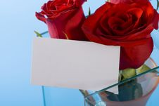 Free Red Roses And Note Royalty Free Stock Photos - 7805708