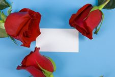 Free Roses Around The Note Stock Image - 7805711