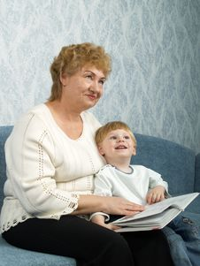 Portrait Of The Grandmother With The Grandson Royalty Free Stock Photography