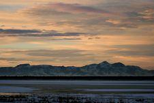 Utah Mountains At Sunset Stock Photos