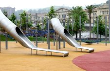 Free Children S Playground With Slides In Bilbao, Spain Royalty Free Stock Image - 7806266