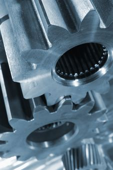 Steel And Titanium Parts Royalty Free Stock Photo