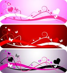 Free Three Valentine Backgrounds Royalty Free Stock Photo - 7807275