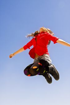 Free Jumping Happy Woman Royalty Free Stock Images - 7808639