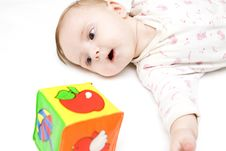 Free Baby With Teddy Stock Photography - 7809312
