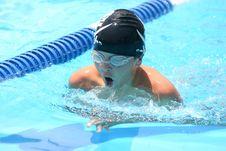 Breast Stroke Swimming Boy