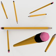 Free Yellow Pencils Stock Photo - 78079020