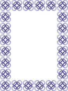 Free Delicate Blue Border - Vector Royalty Free Stock Photo - 7816645
