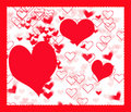 Free Hearts Background With Border Royalty Free Stock Photography - 7816977