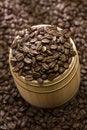 Free Coffee Bean On Oak Drum Stock Photo - 7817170