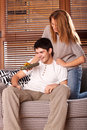 Free Young Couple Exchanging Presents Royalty Free Stock Photos - 7818408