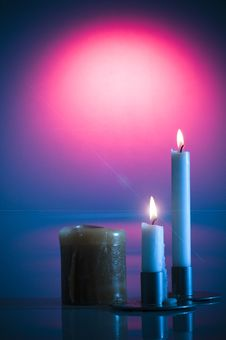Free Valentine S Burning Candles Royalty Free Stock Photo - 7810105
