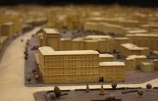 Free City Model From Wood And Veneer Royalty Free Stock Images - 7810199