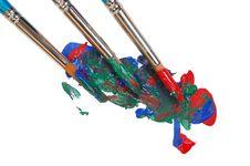 Three Paintbrushes Royalty Free Stock Image
