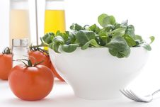 Free Fresh Natural Salad Bowl Tomato Lettuce Onion Royalty Free Stock Photography - 7810367