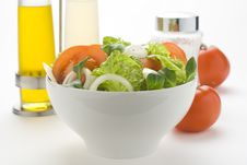 Free Fresh Natural Salad Bowl Tomato Lettuce Onion Stock Images - 7810464