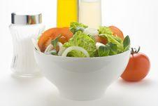 Free Fresh Natural Salad Bowl Tomato Lettuce Onion Royalty Free Stock Photo - 7810465
