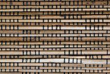 Free Abstract Background Image Of Bamboo Slats Stock Image - 7810611