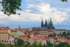 Free View Of The Center Of Old Part Prague. Royalty Free Stock Photo - 7811055