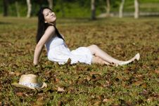 Free Beautiful Asian Girl In The Park Royalty Free Stock Image - 7811526