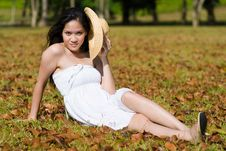 Free Beautiful Asian Girl In The Park Royalty Free Stock Photo - 7811745