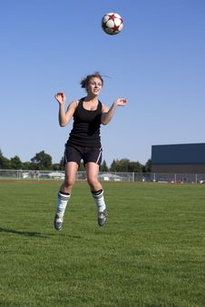 Free Soccer Girls Royalty Free Stock Images - 7812089
