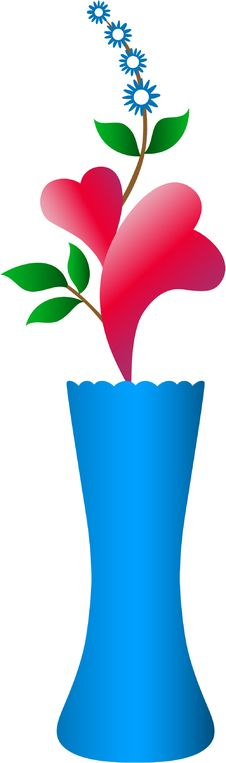 Free Hearts In A Vase Royalty Free Stock Photography - 7812317
