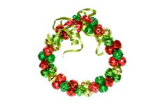 Free Christmas Wreath Of Bells Royalty Free Stock Image - 7812466