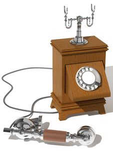 Free Phone Of A Retro Royalty Free Stock Photos - 7812498
