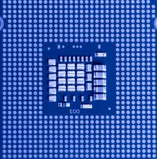 Macro Of Cpu Processor Royalty Free Stock Photo