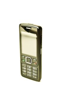 Mobile Phone Isolated On White Stock Images