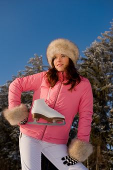 Free Sportive Woman In Pink Jacket Stock Photos - 7812743
