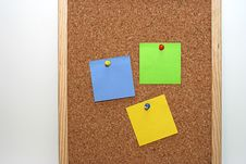 Notes In Cork Board Royalty Free Stock Photography