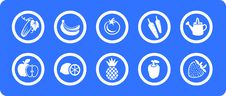 Free Fruit And Vegetables  Icons Set Royalty Free Stock Photos - 7813218