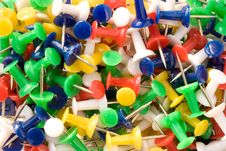 Free Multicolored Push Pins. Royalty Free Stock Images - 7813869