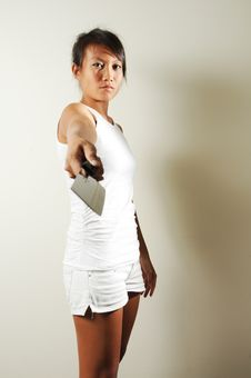 Free Fierce Gangster Woman Royalty Free Stock Photography - 7813957