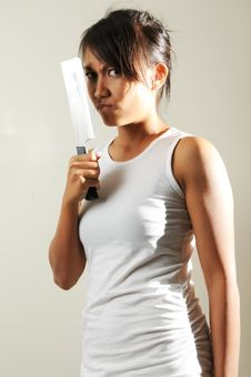 Free Fierce Gangster Woman Royalty Free Stock Photography - 7813977